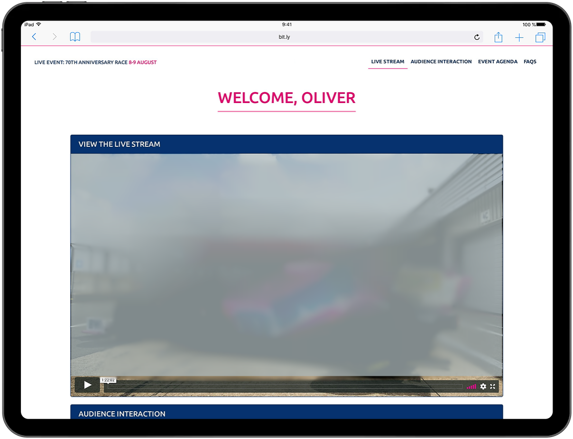 LIVE Formula One Virtual Hospitality Event